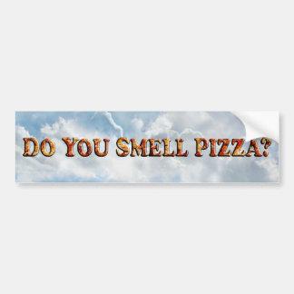 Adesivo De Para-choque Você cheira a PIZZA - autocolante no vidro