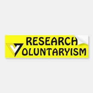 Adesivo De Para-choque Voluntarismo