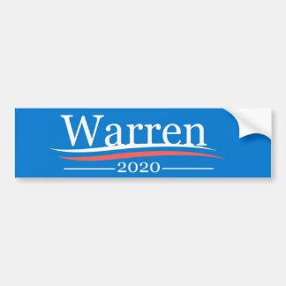 Adesivo De Para-choque Warren para o presidente, 2020, azul clássico de