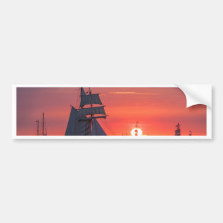 Adesivo De Para-choque Windjammer no por do sol no mar Báltico