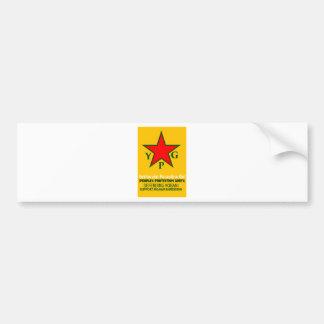 Adesivo De Para-choque ypg-ypj - kobani do apoio