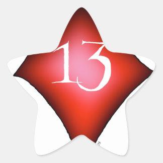 Adesivo Estrela 13 dos diamantes
