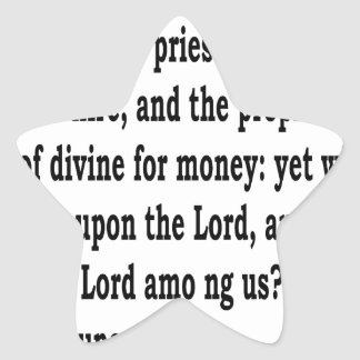 Adesivo Estrela 3:11 de Micah