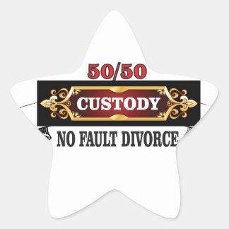 Adesivo Estrela 50 50 direitos de pais,