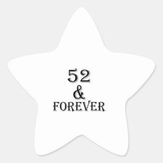 Adesivo Estrela 52 e para sempre design do aniversário