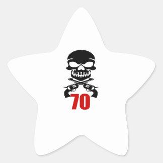 Adesivo Estrela 70 designs do aniversário