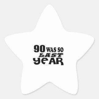 Adesivo Estrela 90 era assim tão no ano passado o design do