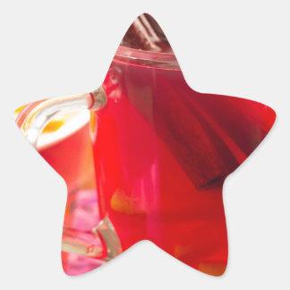 Adesivo Estrela A caneca transparente com citrino mulled o vinho,