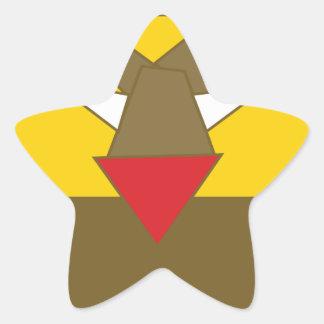 Adesivo Estrela A forma fez o leão