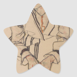 Adesivo Estrela A irmã do artista de Egon Schiele- na lei