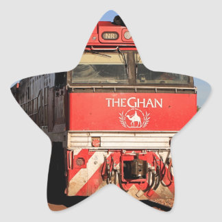 Adesivo Estrela A locomotiva do trem de Ghan, Darwin