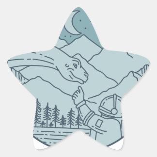 Adesivo Estrela A lua do Brontosaurus do astronauta Stars o
