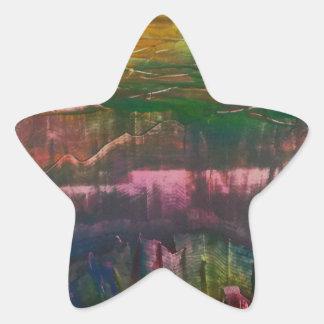 Adesivo Estrela A noite unfurls sobre a paisagem