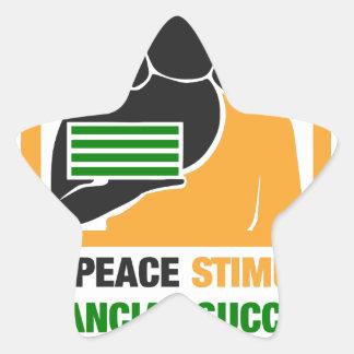 Adesivo Estrela A paz interna estimula o sucesso financeiro