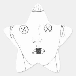 Adesivo Estrela A rainha do botão