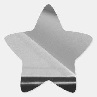 Adesivo Estrela A segunda mão registra com páginas vazias em uma