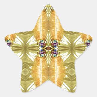 Adesivo Estrela A terra tonificou o teste padrão tribal do verde