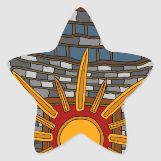 Adesivo Estrela A última casa de tesouro