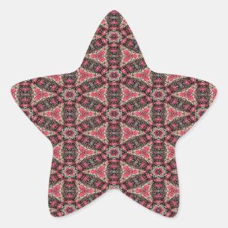 Adesivo Estrela Abstracção cor-de-rosa