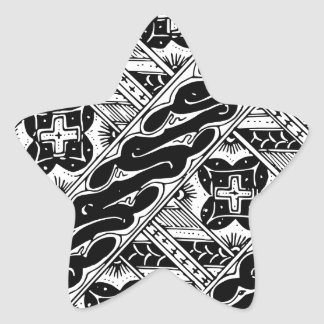 Adesivo Estrela Abstrato e teste padrão clássico ornamentado