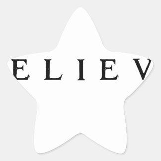 Adesivo Estrela Acredite - moderno legal