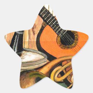Adesivo Estrela Ainda vida com instrumentos musicais