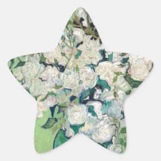 Adesivo Estrela Ainda vida: Vaso com rosas - Vincent van Gogh