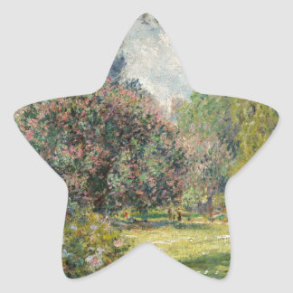 Adesivo Estrela Ajardine o Parc Monceau - Claude Monet
