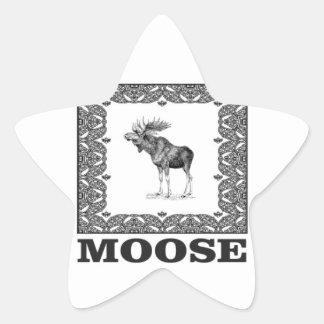 Adesivo Estrela alces do touro em um quadro