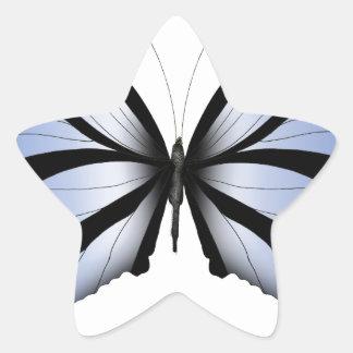 Adesivo Estrela Aleta azul gigante da borboleta 5 azuis