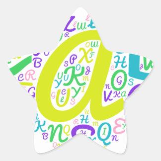 Adesivo Estrela alfabeto do amor