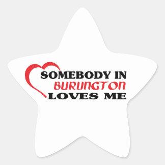 Adesivo Estrela Alguém em Burlington ama-me
