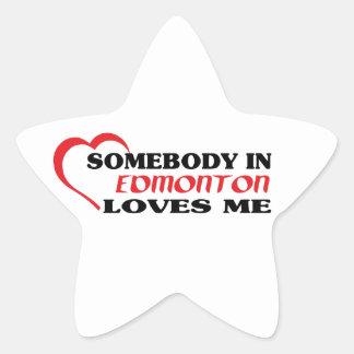 Adesivo Estrela Alguém em Edmonton ama-me