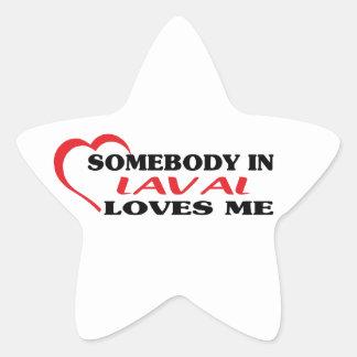 Adesivo Estrela Alguém em Laval ama-me