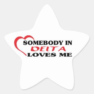 Adesivo Estrela Alguém no delta ama-me