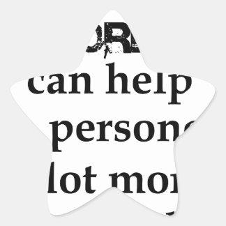 Adesivo Estrela algumas palavras agradáveis podem ajudar uma