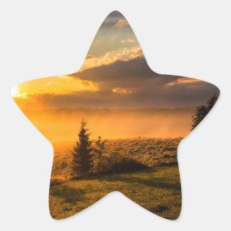 Adesivo Estrela Alvorecer enevoado do bombardeiro de Vulcan