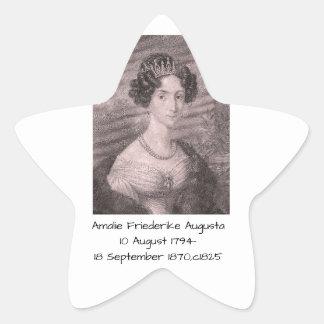 Adesivo Estrela Amalie Friederike Augusta c1825