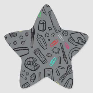 Adesivo Estrela Amante dos artigos de papelaria