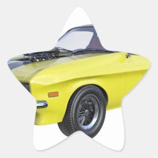 Adesivo Estrela Amarelo do carro de 1970 músculos com listra preta