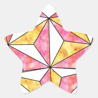 Adesivo Estrela amarelo-Geo-coração-design