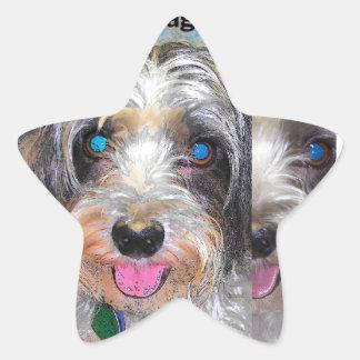 Adesivo Estrela amendoim o cão do salvamento