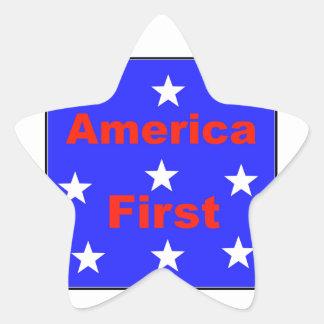 """Adesivo Estrela """"América vermelha, branca, e azul primeiramente"""""""