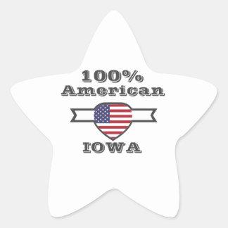 Adesivo Estrela Americano de 100%, Iowa