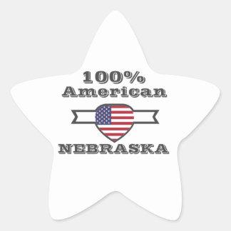 Adesivo Estrela Americano de 100%, Nebraska