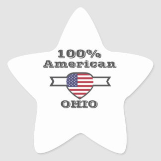 Adesivo Estrela Americano de 100%, Ohio