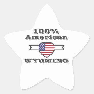 Adesivo Estrela Americano de 100%, Wyoming
