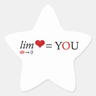 Adesivo Estrela Amor da matemática