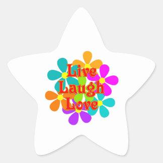 Adesivo Estrela Amor vivo do riso do divertimento