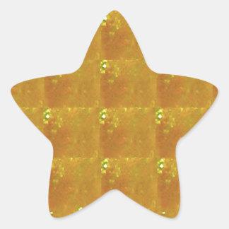 Adesivo Estrela Ampliação dourada HealingSTONE do CRISTAL 2000X